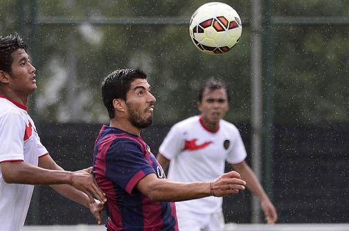 Luis Suárez, con hambre de fútbol y de 'Clásico'