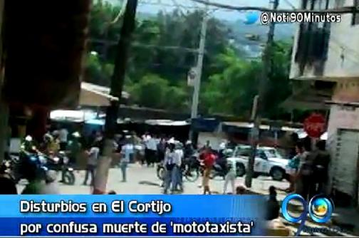Disturbios por muerte de mototaxista