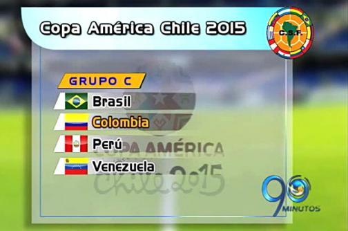 Sorteo de grupos de la Copa América Chile 2015