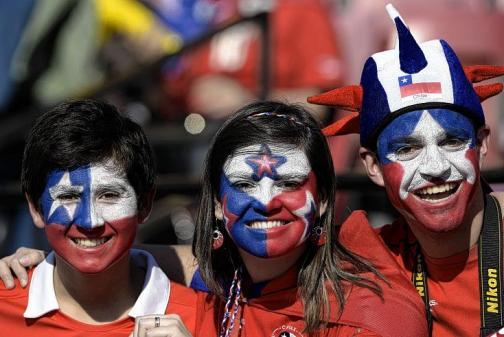 Hinchas de la selección Chile palpitan la gran final