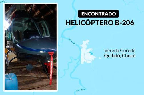 En video: así fue encontrado el helicóptero robado en el Valle del Cauca