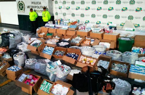 En video: la incautación de medicamentos falsos y adulterados en Bogotá