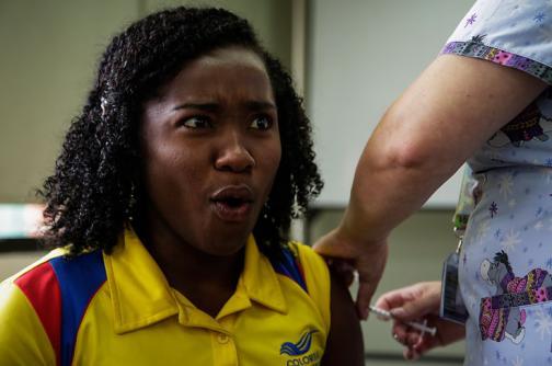 Deportistas colombianos se someten a jornada de vacunación antes de Río 2016