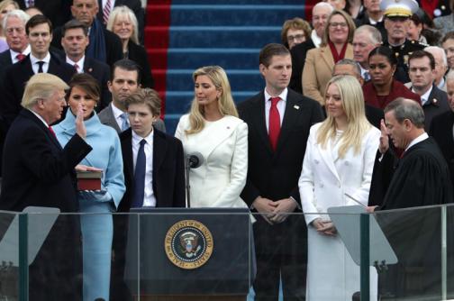 En video: el momento del juramento de Trump como presidente de Estados Unidos