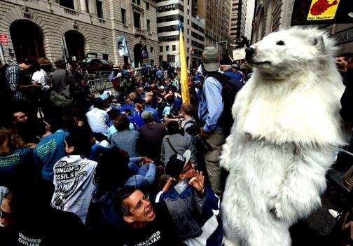 En imágenes: multitudinaria marcha contra el cambio climático en Wall Street