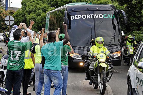 Deportivo Cali habla del triunfo a su llegada a la Sultana