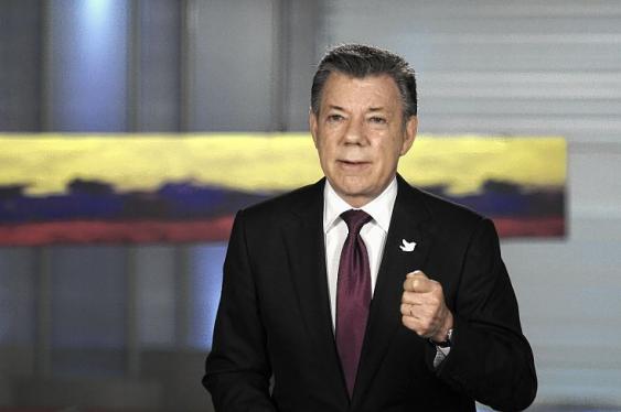 El presidente Juan Manuel Santos durante alocución desde la Casa de Nariño.  Foto: Cortesía de la Presidencia de la República