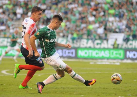 Nicolás Benedetti, delantero del Deportivo Cali.<br>José L. Guzmán / El País