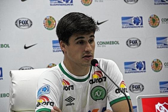Filipe Machado era el más veterano de la defensa del Chapecoense.<br>