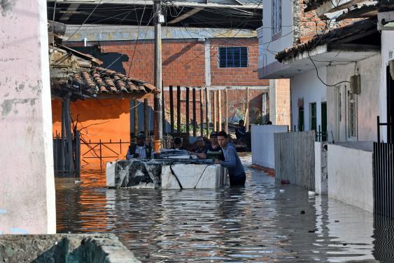 En fotos: así luce Juanchito por el desbordamiento del río en Cauca en algunos tramos