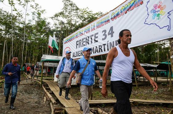 En fotos: la visita de la ONU a zona de preagrupamiento en Antioquia