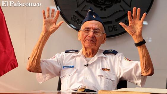 Francisco Andrade era el único Comandante Emérito del Cuerpo de Bomberos del país.<br>Archivo El País