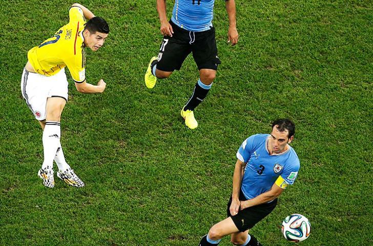 James Rodríguez es el autor del gol del Mundial Brasil 2014