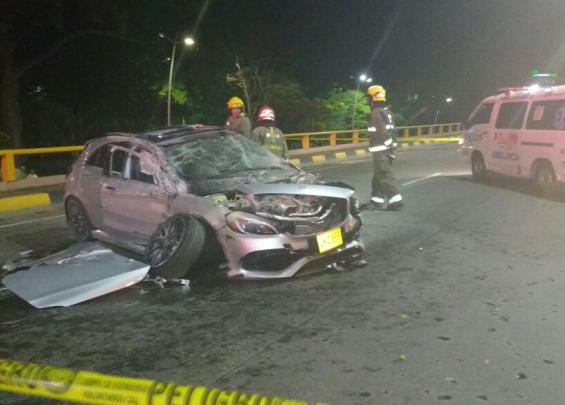 Accidente túnel de la Avenida Colombia.