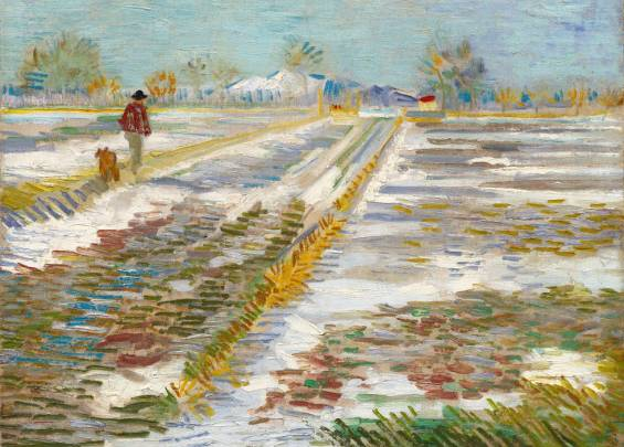 Landscape with Snow Vincent Van Gogh