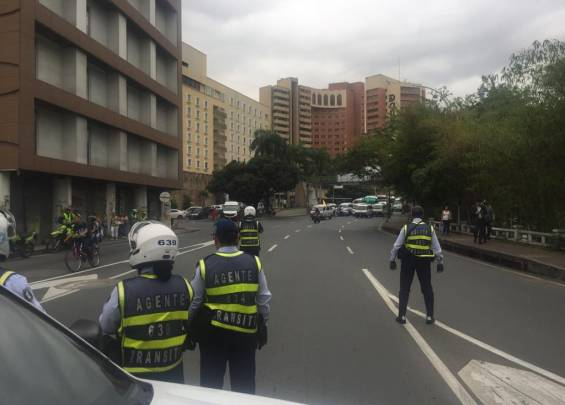 Blocked in front of Hotel Intercontinental
