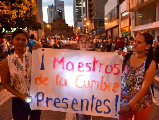 profesores docentes marcha