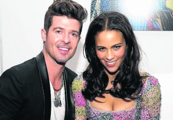 Robin Thicke y Paula Patton