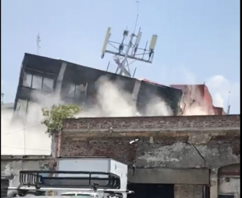 Terremoto México - video desplome edificio