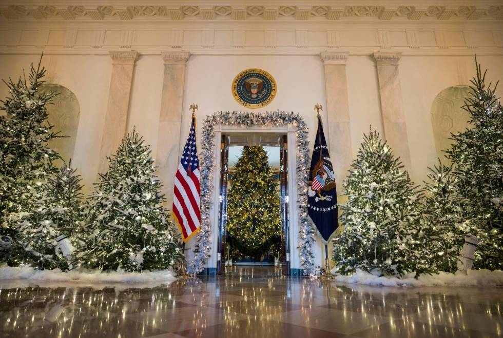 La primera navidad de los trump en la casa blanca as es for Decoracion estados unidos