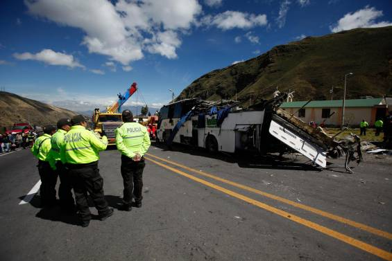 Bus Accidente Quito Ecuador