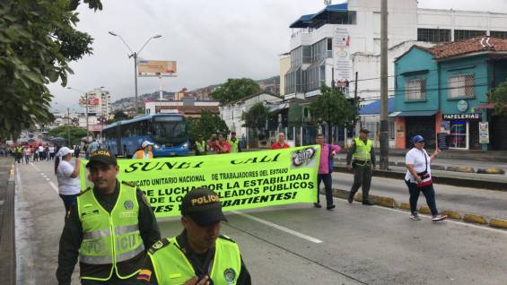 Marcha docentes Cali profesores