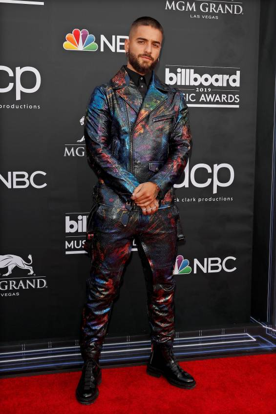 Maluma en la alfombra roja de los Billboard Music Awards 2019