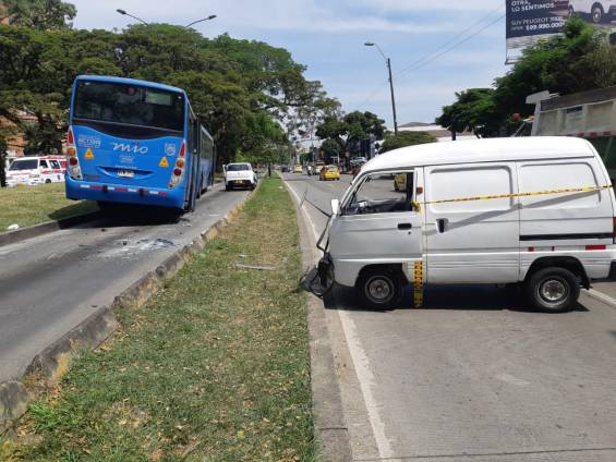 Accidente de tránsito sur de Cali