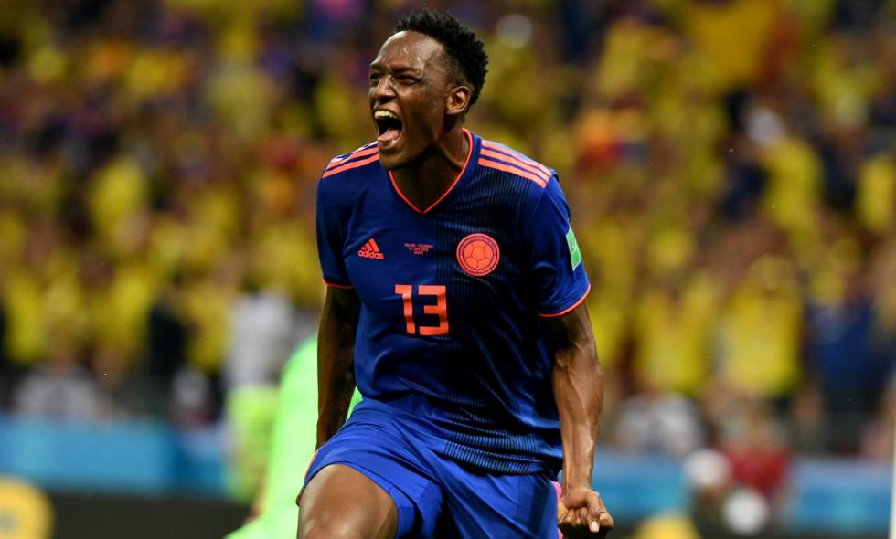 Yerry Mina. Partido Colombia vs Polonia