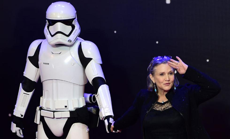 Hollywood llora a Carrie Fisher, la legendaria actriz de 'Star Wars'