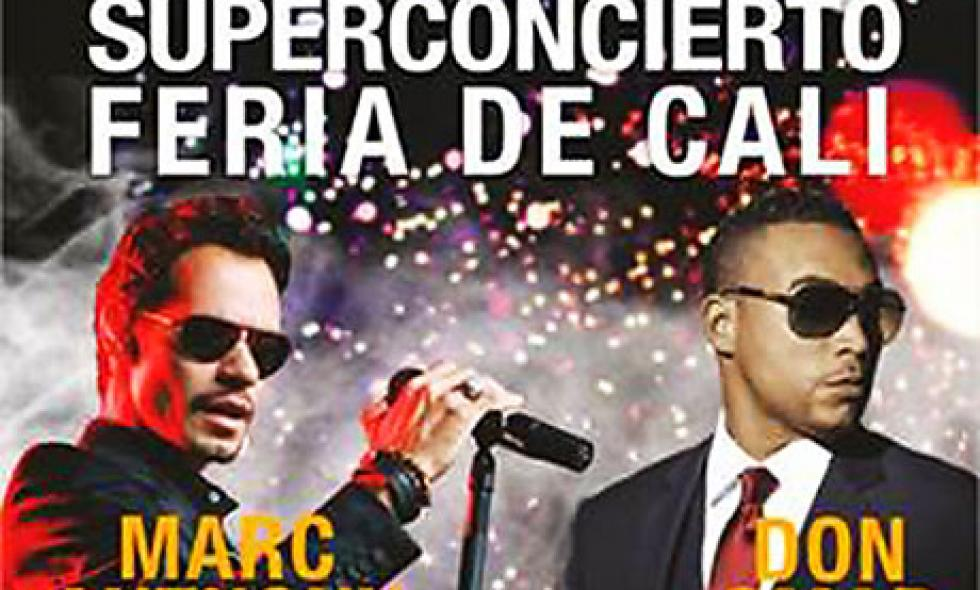 Confirman a Marc Anthony y Don Omar para Superconcierto de 56 Feria de Cali