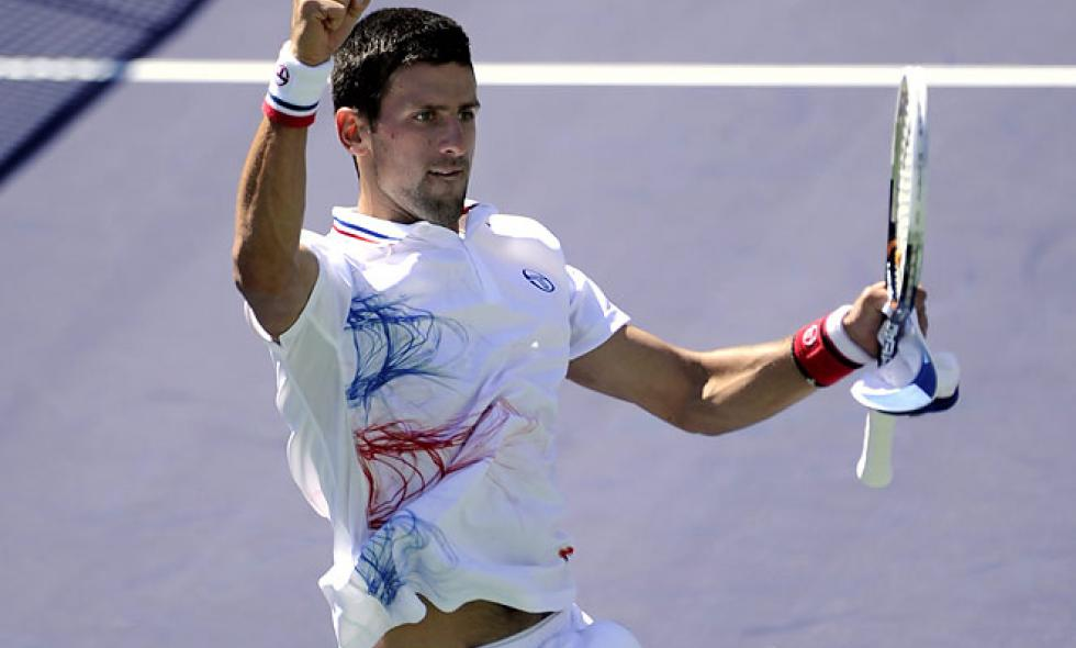 Novak Djokovic clasificó a semifinales de Indian Wells