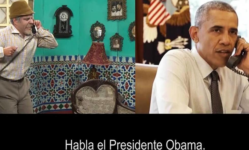 Video: el sketch de Obama con el comediante más popular de Cuba