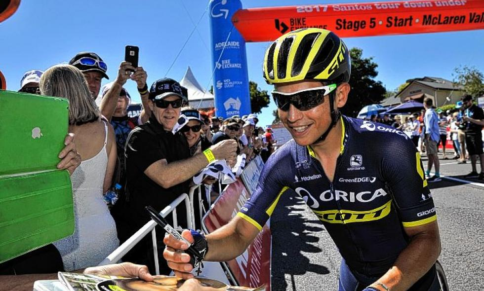 Esteban Chaves terminó segundo en el Tour Down Under