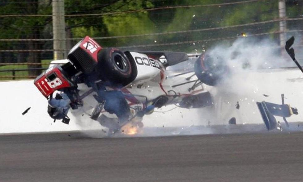 Bourdais, con fracturas tras accidente en Indy