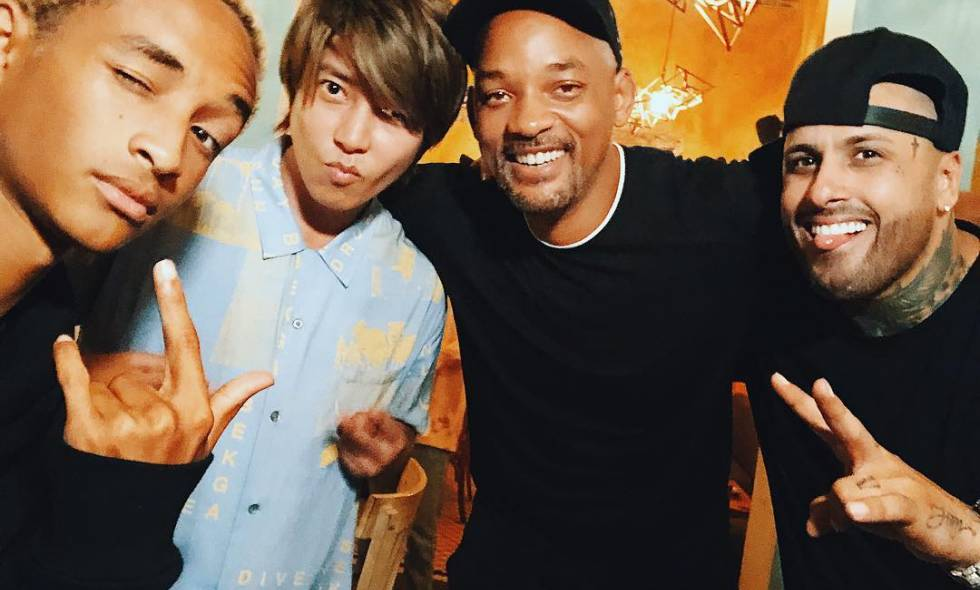 Will y Jaden Smith de visita en Cartagena con Nicky Jam