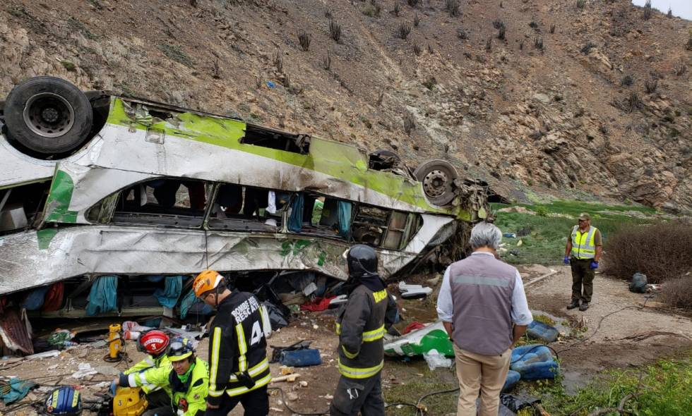 Bus accidentado en Antofagasta