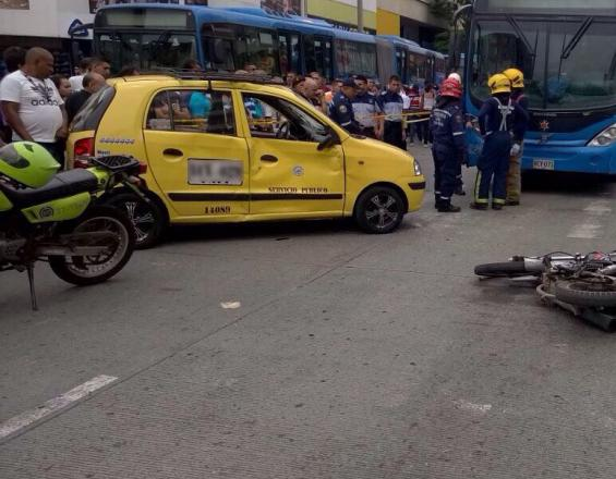 Accidente motociclista centro de Cali