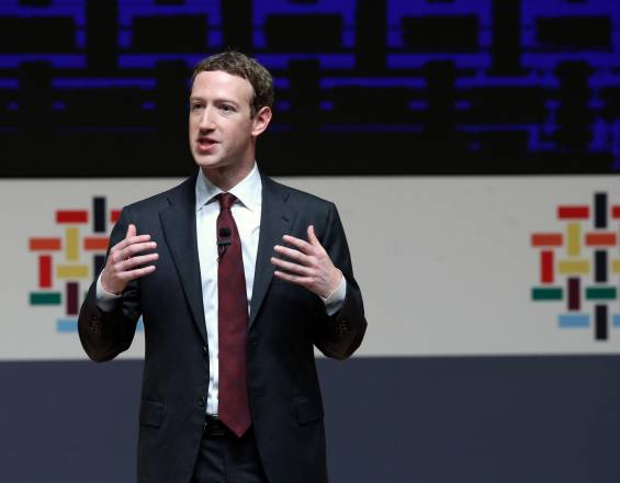 Fundador de Facebook, Mark Zuckerberg.