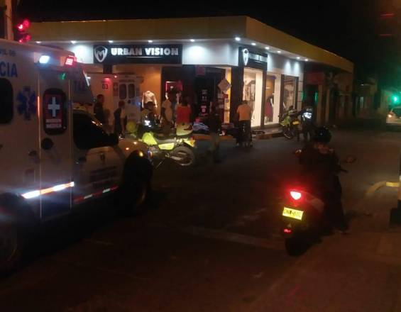 Accidente de dos motos en Tuluá