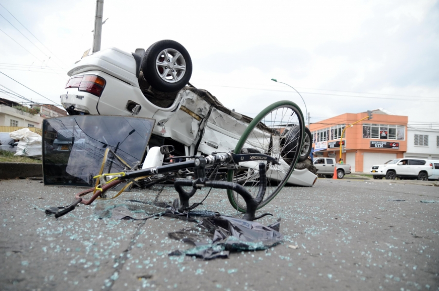 Accidente de tránsito en el barrio San Judas