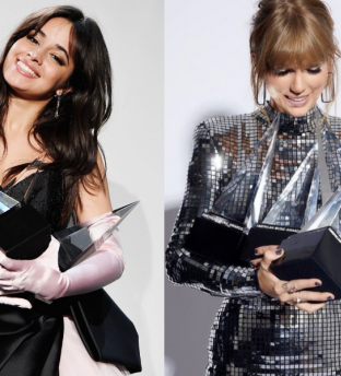 Taylor Swift y Camila Cabello, brillaron en los American Music Awards