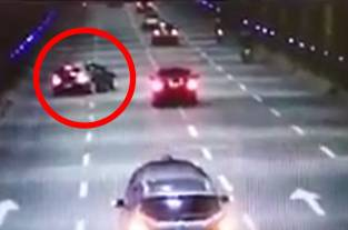 Video: investigan choque de un BMW en túnel de la Avenida Colombia