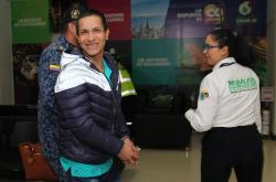 Colombiana repatriada desde China
