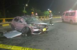 Accidente túnel Avenida Colombia