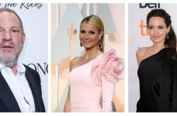 Harvey Weinstein, y las actrices Gwyneth Paltrow y Angelina Jolie