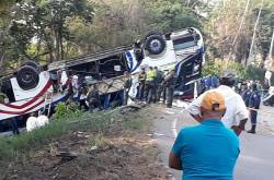 Accidente Bus Brasilia en Córdoba