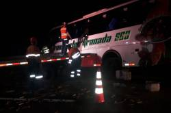 Bus venezolanos accidente Guacarí