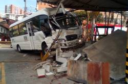 Accidente bus escolar