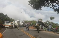 Accidente de bus en Cauca